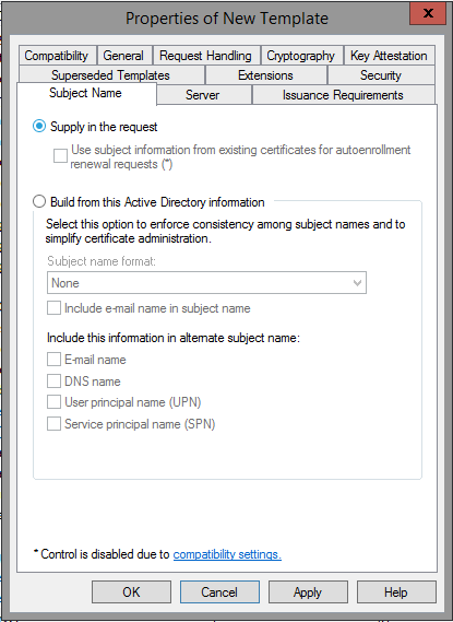 Creating a microsoft certificate authority template for ssl adding a new template to certificate templates yadclub Choice Image