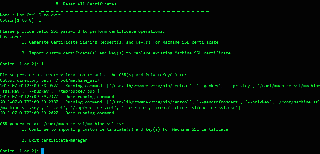 Replacing Vcenter 60s Ssl Certificate