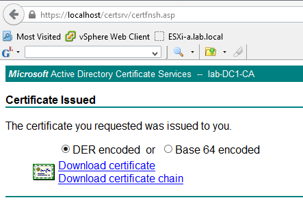 Replacing vCenter 6.0\'s SSL Certificate