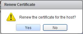 Confirm ESXi renew certificate
