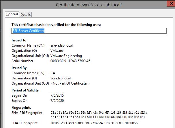 Replacing vcenter 60s ssl certificate esxi renewed ssl thumbprint yadclub Choice Image