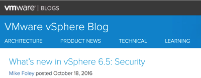 What's new in vSphere Security